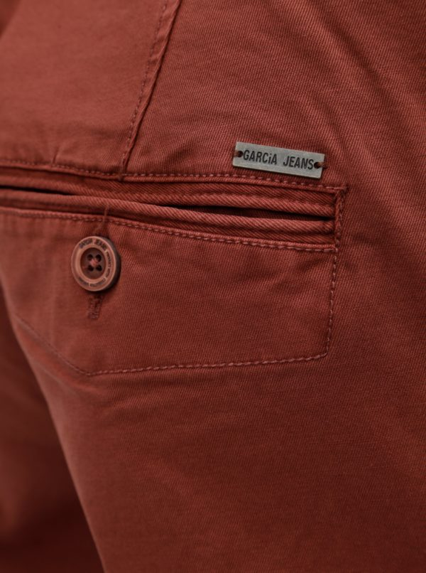 0342e0bc410f Hnedé pánske stretch chino nohavice Garcia Jeans