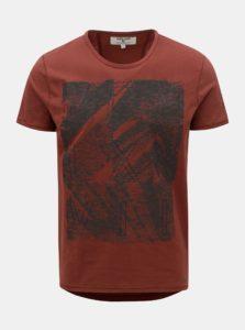 Červené pánske tričko s potlačou Garcia Jeans