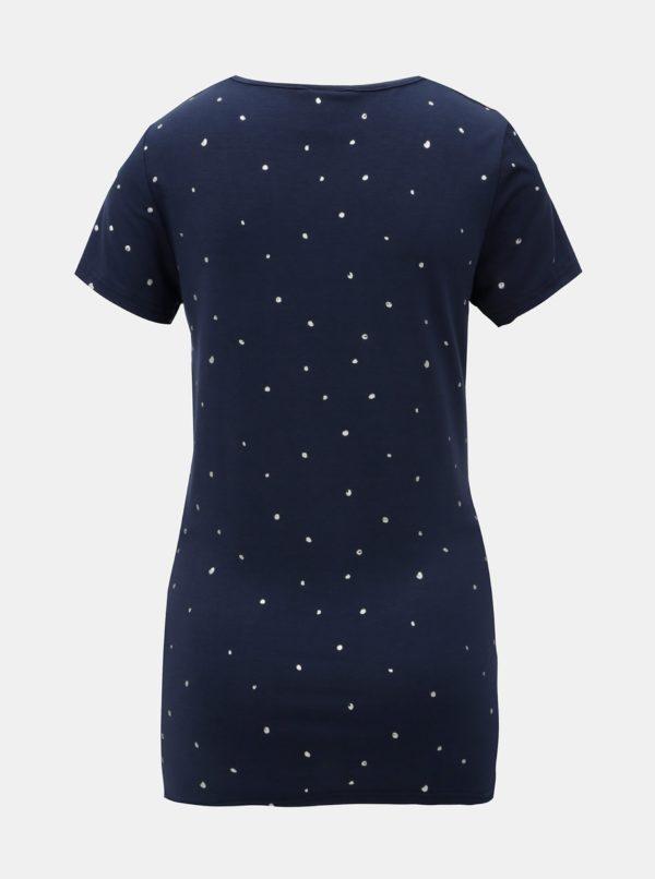 Tmavomodré tehotenské tričko s bodkami Mama.licious Dallas