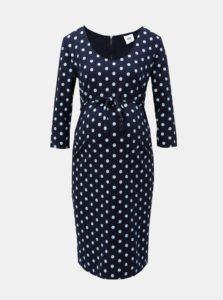 0e44d18ed Tmavomodré tehotenské bodkované šaty Mama.licious Blackie
