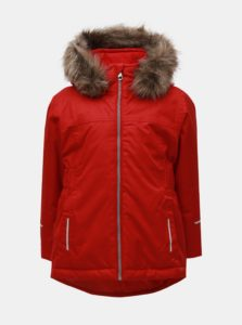 Červená dievčenská funkčná zimná bunda Name it Snow