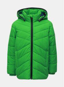 Zelená chlapčenská zimná prešívaná bunda Name it Mil