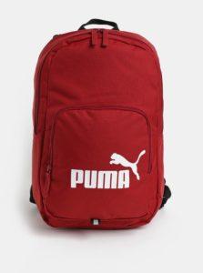 Červený batoh s potlačou Puma 21 l