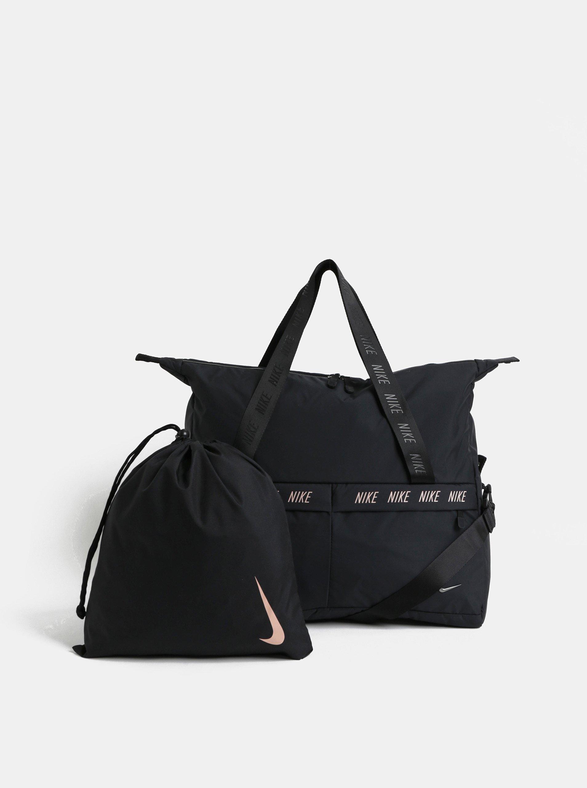 25b066b80b176 Čierna dámska športová taška s vakom na topánky Nike 31 l   Moda.sk