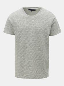 Sivé vzorované tričko SUIT Bayswater