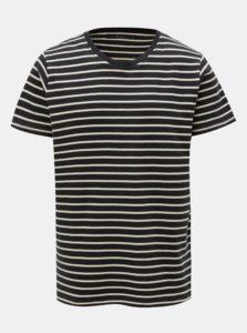 Tmavomodré pruhované basic tričko SUIT Beagle
