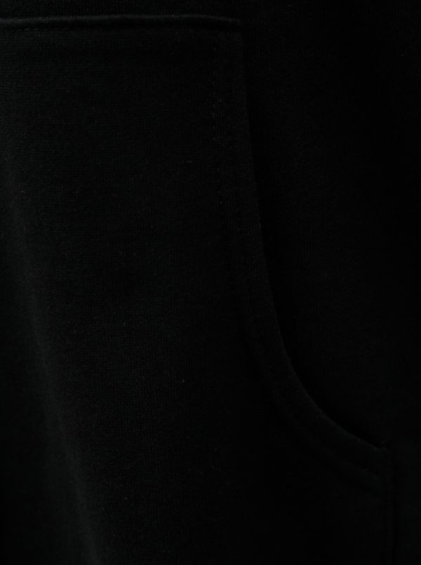Čierna voľná mikina s čipkou ELVI