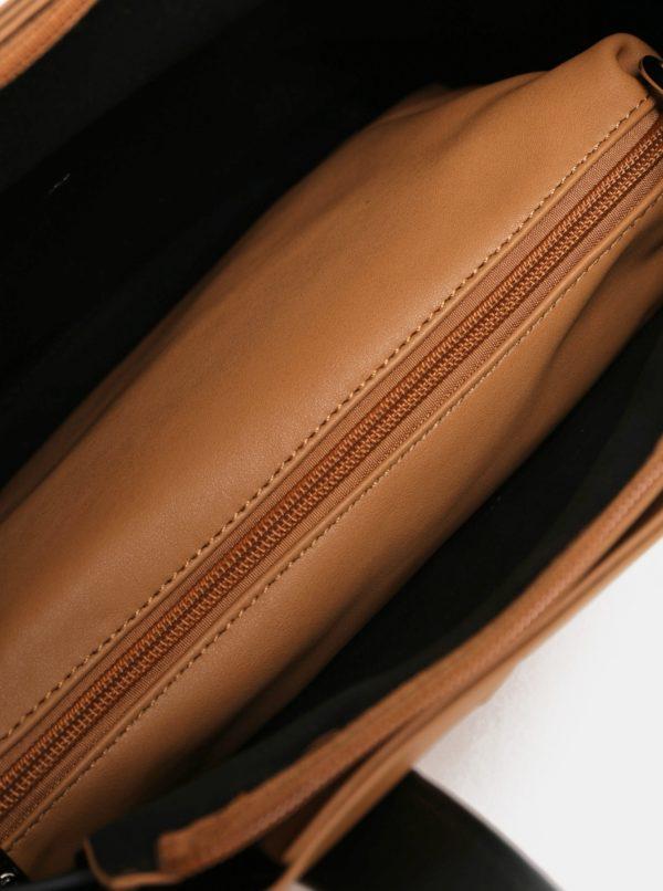 Hnedá kabelka s crossbody kabelkou 2v1 Meatfly