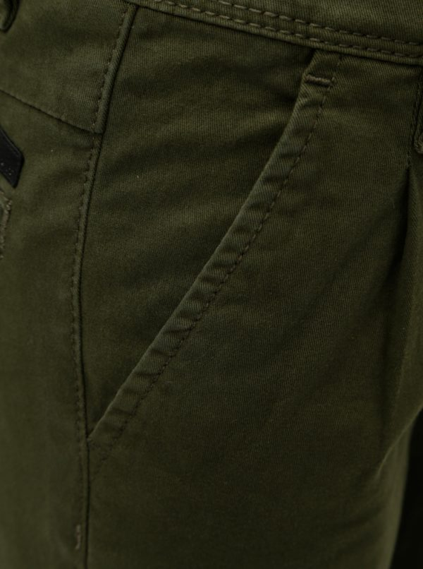 Kaki chlapčenské chino slim fit nohavice Name it Robin
