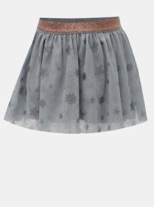 Sivá tylová sukňa s potlačou hviezd BÓBOLI