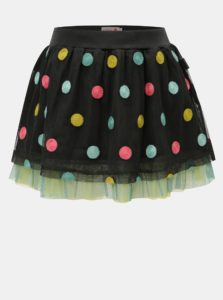 Tmavosivá bodkovaná sukňa BÓBOLI