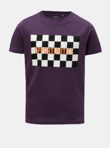Fialové chlapčenské tričko s potlačou LIMITED by name it