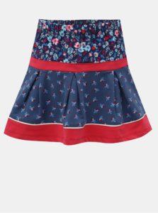Červeno-modrá kvetovaná sukňa BÓBOLI