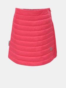 Ružová neónová prešívaná funkčná páperová sukňa na zips Reima Floora