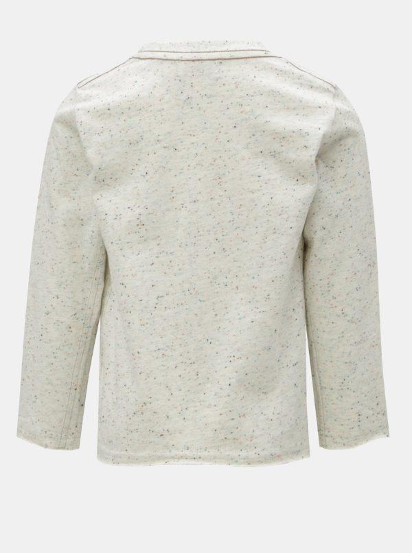Krémové chlapčenské melírované tričko s potlačou BÓBOLI
