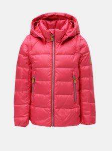 Ružová neónová dievčenská funčkná páperová vesta/bunda s odnímateľnými rukávmi a kapucňou na patentky Reima Martii
