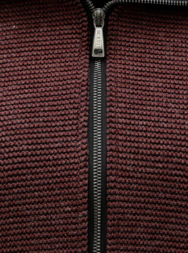 Vínový dámsky melírovaný kabát s rolákom killtec  eb5375f0436