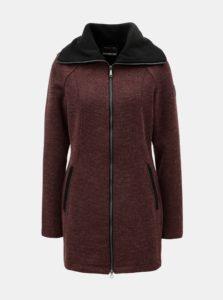 Vínový dámsky melírovaný kabát s rolákom killtec