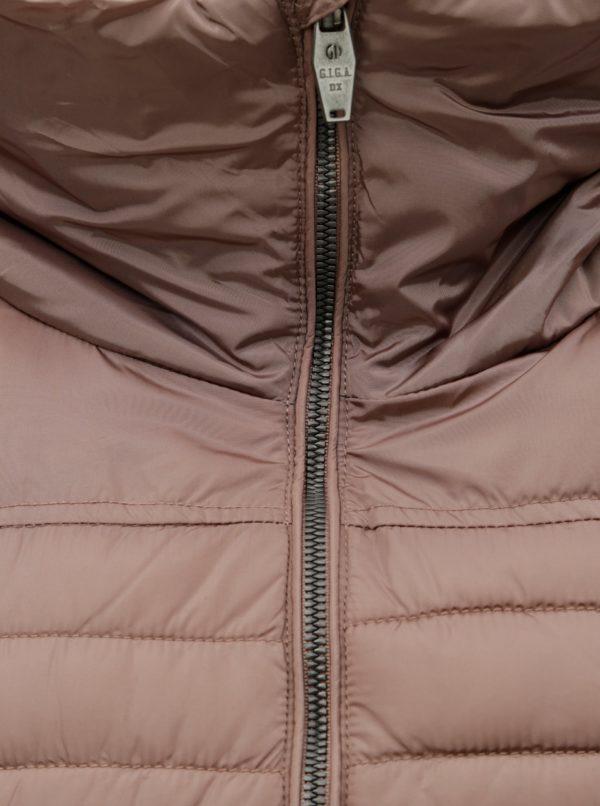 Staroružová dámska prešívaná dlhá bunda killtec
