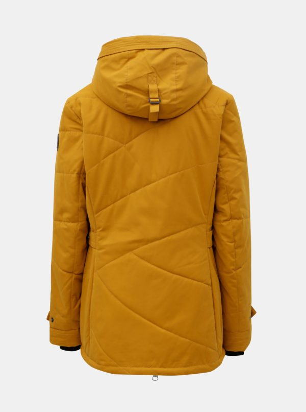 Horčicová dámska zimná nepremokavá bunda killtec
