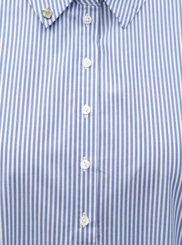 Bielo–modré pruhované košeľové šaty Scotch & Soda