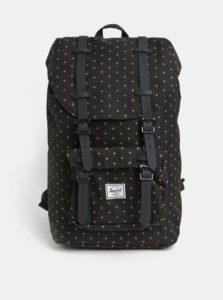 Čierny vzorovaný batoh Herschel Little America Mid 17 l