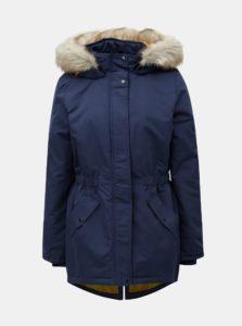 Tmavomodrá dlhá zimná bunda Jacqueline de Yong Star