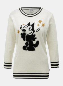Krémový melírovaný sveter s prímesou vlny Scotch & Soda Felix