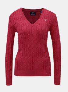 Červený dámsky sveter s plastickým vzorom GANT