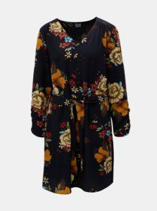 Hnedo-modré kvetované šaty Jacqueline de Yong New
