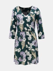 Krémovo-zelené kvetované šaty Jacqueline de Yong King