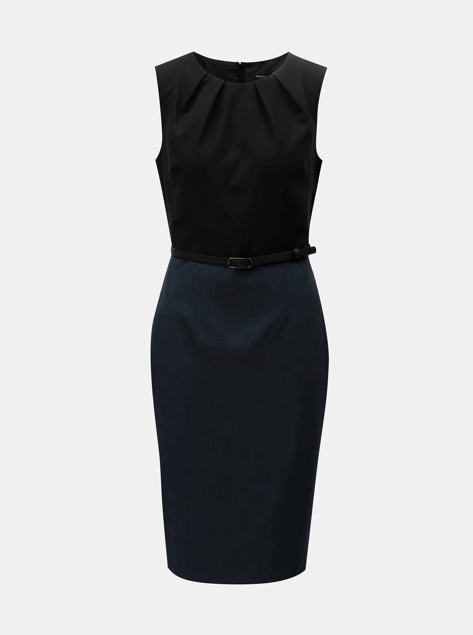 c11454042f0a Čierno-modré puzdrové šaty s odnímateľným opaskom Dorothy Perkins ...