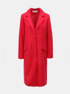 Červený kabát s prímesou vlny VILA