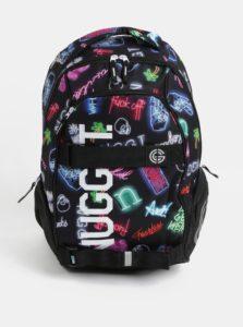 Čierny batoh s neónovým vzorom a potlačou Nugget 24 l