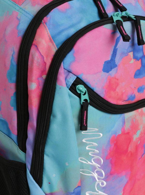 Modro-ružový vzorovaný batoh s výšivkou Nugget 26 l