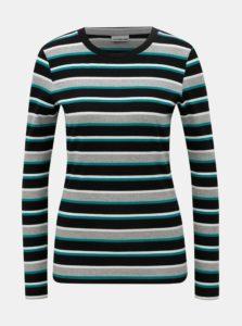 ce4561d29b56 Čierno-sivé pruhované tričko Noisy May Else