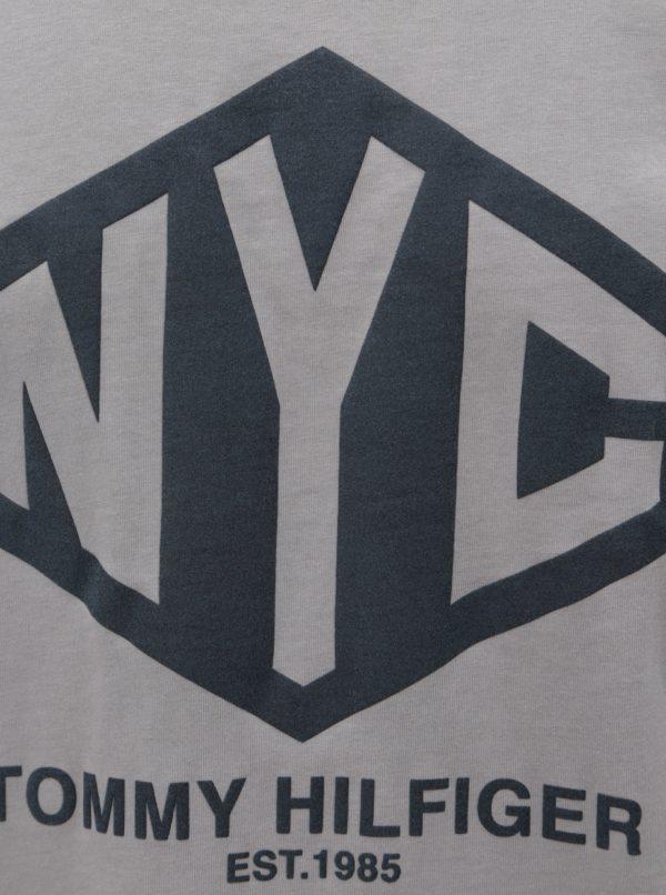 Sivé pánske tričko s potlačou Tommy Hilfiger Shear Tee  a0a6ec2ae53