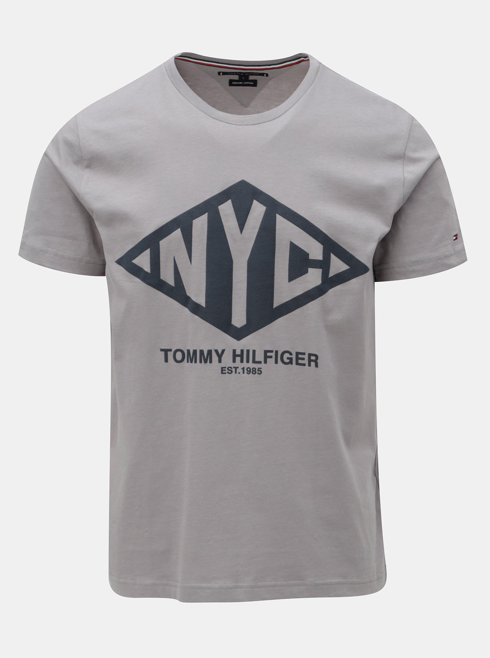 6f0c37cf3 Sivé pánske tričko s potlačou Tommy Hilfiger Shear Tee | Moda.sk