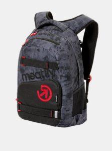 Tmavosivý vzorovaný batoh s peračníkom 2v1 Meatfly 22 l