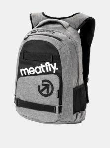 Sivý melírovaný batoh s peračníkom 2v1 Meatfly 22 l