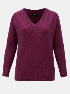 Fialový sveter s prímesou vlny Zizzi Camilla