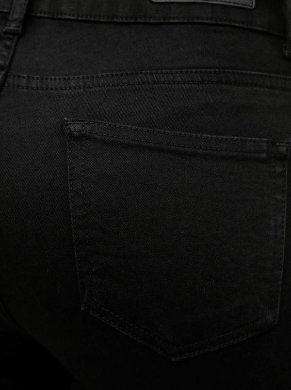 Čierne straight fit jeggings Yest Lynn
