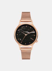 Dámske hodinky s remienkom v ružovozlatej farbe a mramorovaným ciferníkom Komono Lexi Royale Marble