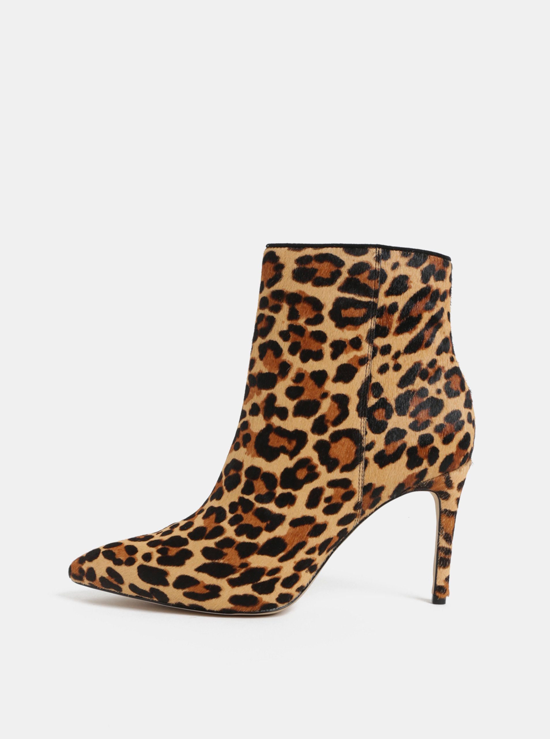 088692c885da Hnedé členkové kožené topánky s leopardím vzorom ALDO