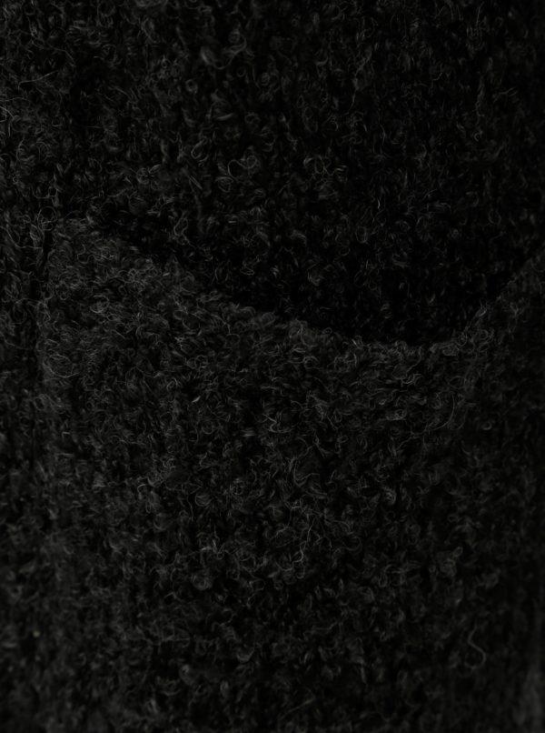 Tmavosivý kardigán s vreckami a s prímesou vlny Jacqueline de Yong Delight