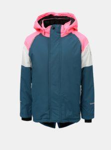 Ružovo–petrolejová dievčenská zimná funkčná bunda s kapucňou Name it Snow a00809e172c
