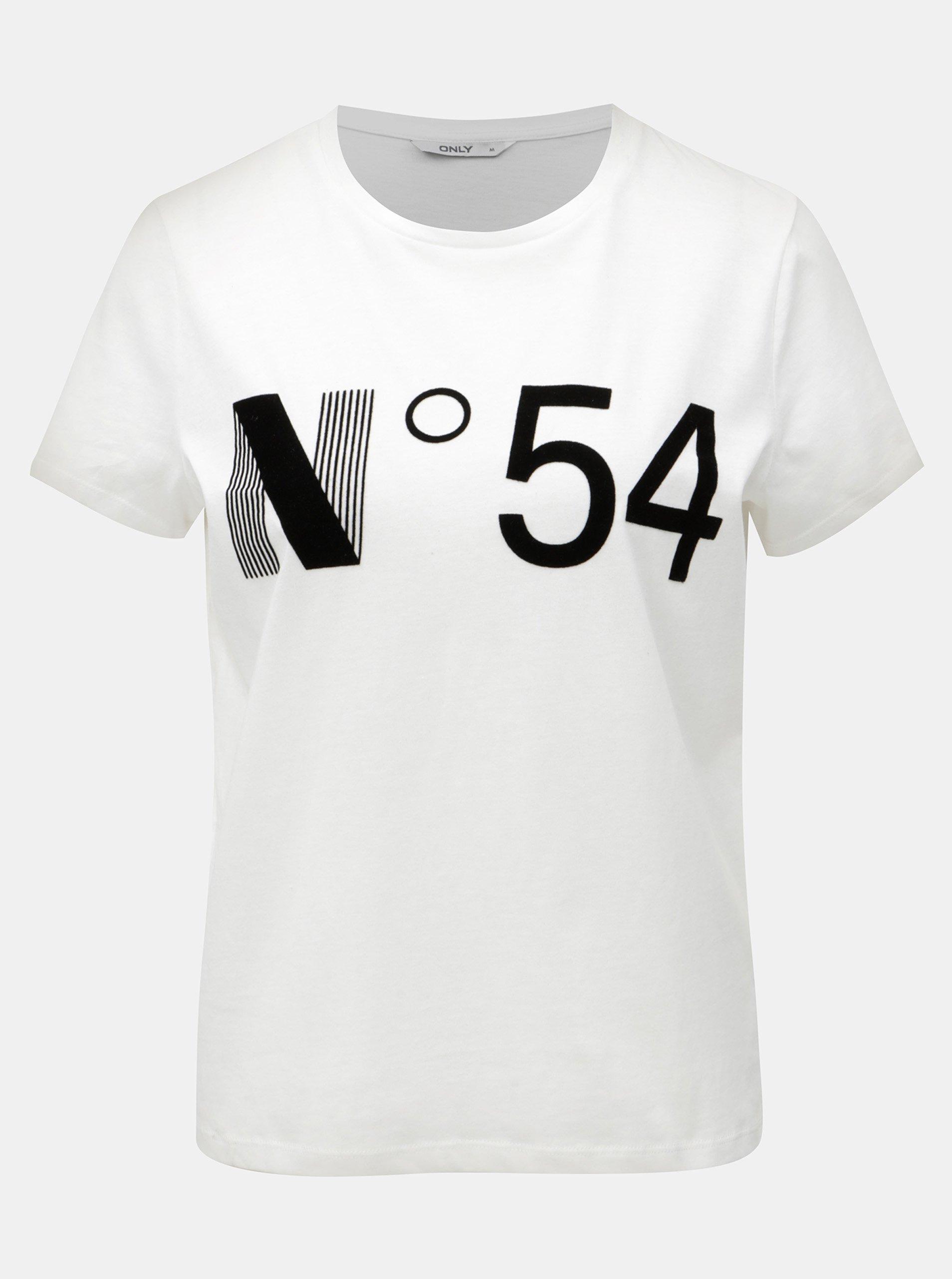 abb8f11a6f65f Biele tričko s potlačou ONLY Magga | Moda.sk