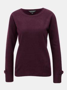 Fialový sveter s rozparkami a mašľami na rukávoch Dorothy Perkins
