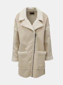 Béžový kabát s umelou kožušinkou ONLY Felicity