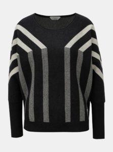 Béžovo–čierny pruhovaný sveter SKFK Xare
